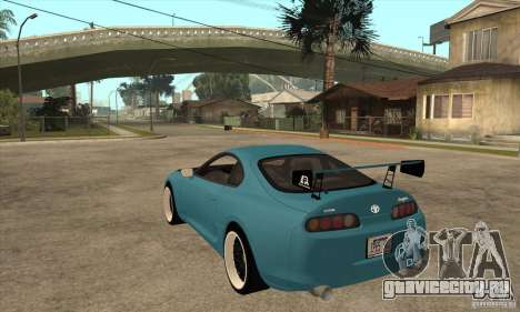 Toyota Supra Tuned для GTA San Andreas вид сзади слева