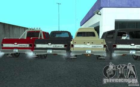 Chevrolet Silverado 3500 для GTA San Andreas вид снизу