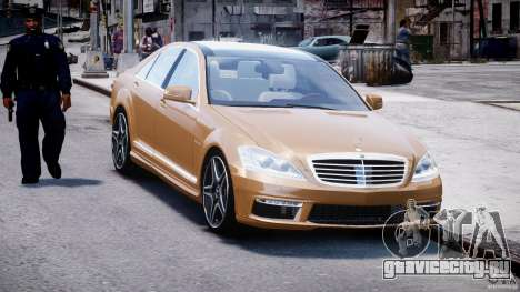 Mercedes-Benz S63 AMG [Final] для GTA 4 вид сзади