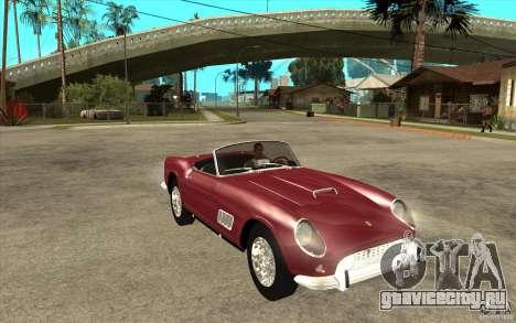 Ferrari 250 California 1957 для GTA San Andreas вид сзади