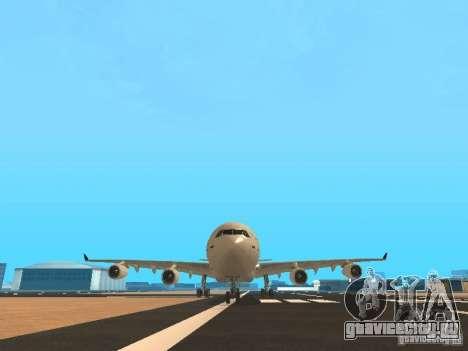 Airbus A340-300 Air Canada для GTA San Andreas вид снизу