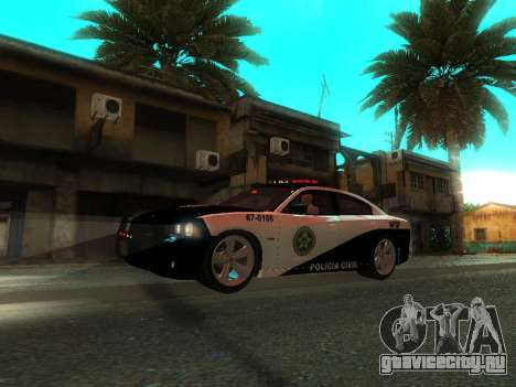 Dodge Charger SRT8 Police для GTA San Andreas вид сверху