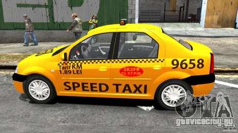 Dacia Logan Prestige Taxi для GTA 4 вид слева