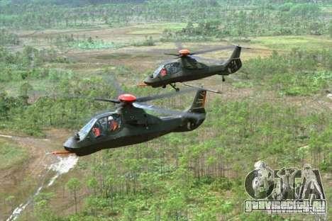 Sikorsky RAH-66 Comanche default grey для GTA San Andreas вид сбоку