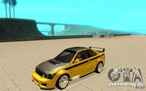 GTA IV Sultan RS FINAL для GTA San Andreas вид снизу