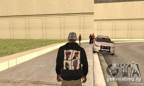 Gorillaz skin для GTA San Andreas второй скриншот