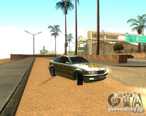 BMW 318i E46 2003 для GTA San Andreas вид сзади слева