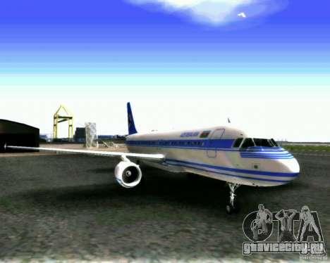 Airbus A-320 Azerbaijan Airlines для GTA San Andreas вид слева