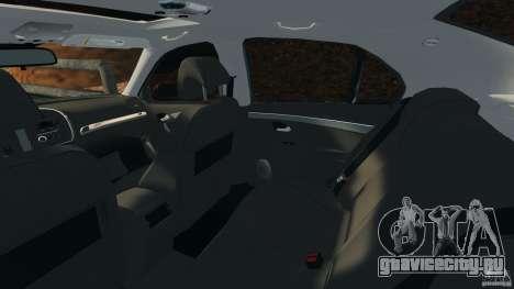 Saab 9-3 Turbo X 2008 для GTA 4 вид изнутри