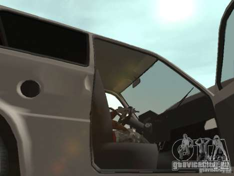 ВАЗ 1111 Ока Белка для GTA San Andreas вид изнутри
