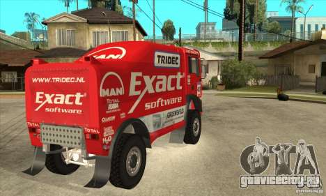 MAN TGA Rally OFFROAD для GTA San Andreas вид сзади