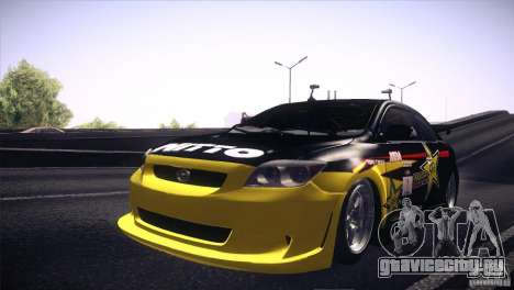 Scion TC Rockstar Team Drift для GTA San Andreas вид сзади