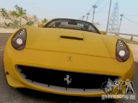 Ferrari California Hamann 2011 для GTA San Andreas вид слева