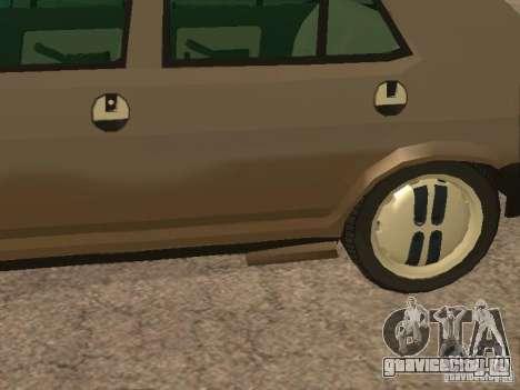 Fiat Ritmo для GTA San Andreas вид снизу