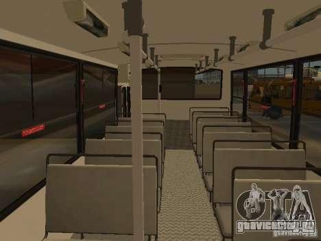 Mercedes-Benz LO-708E для GTA San Andreas вид изнутри