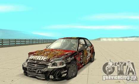 Honda-Superpromotion для GTA San Andreas вид сбоку