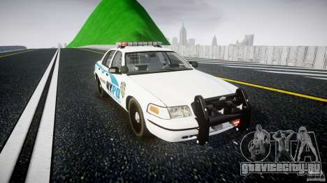 Ford Crown Victoria v2 NYPD [ELS] для GTA 4 вид сзади