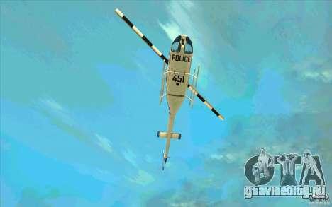 Bell 206 B Police texture1 для GTA San Andreas вид сбоку