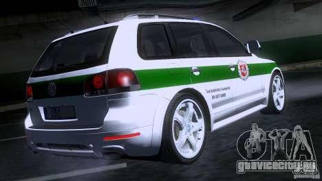 Volkswagen Touareg Policija для GTA San Andreas вид сзади слева