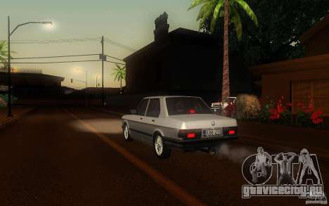 BMW E28 525e ShadowLine Stock для GTA San Andreas вид справа