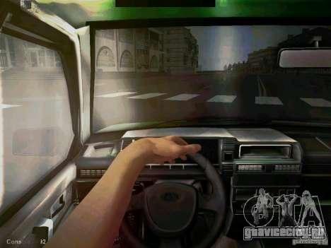 Ваз 2109 Коротко-крылое Такси для GTA San Andreas вид сзади