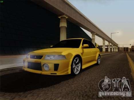 Mitsubishi Lancer Evolution VI для GTA San Andreas вид справа