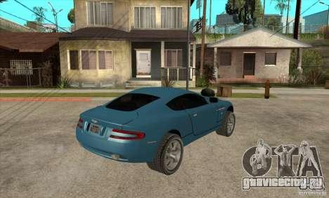 Aston Martin DB9 из NFS MW для GTA San Andreas вид справа