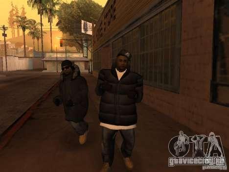 Зимняя одежда для Баллас для GTA San Andreas пятый скриншот