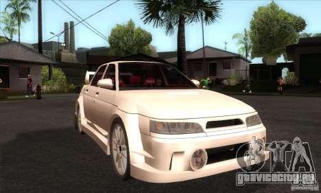 ВАЗ 2110 WRC для GTA San Andreas вид сзади