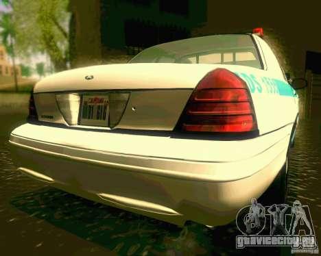 Ford Crown Victoria 2003 NYPD police для GTA San Andreas вид сзади