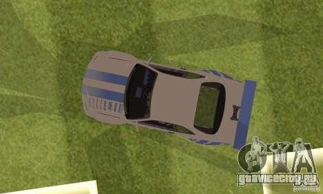 Nissan Skyline R-34 2Fast2Furious для GTA San Andreas вид сзади