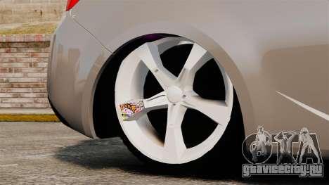 Kia Cerato Koup Edit для GTA 4 вид сзади
