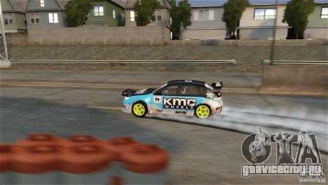 Subaru Impreza WRX STI Rallycross KMC Wheels для GTA 4 вид сзади