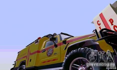 Hummer H2 Ambluance из Трансформеров для GTA San Andreas вид слева