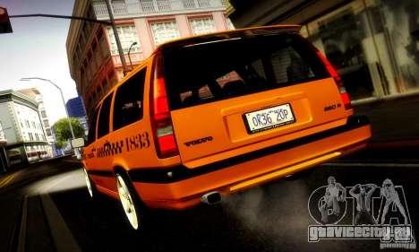 Volvo 850 R Taxi для GTA San Andreas вид сзади слева