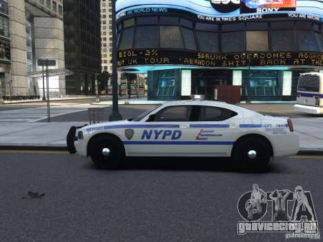 Dodge Charger NYPD для GTA 4 вид сзади