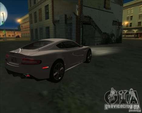 Aston Martin DBS 2009 для GTA San Andreas вид слева