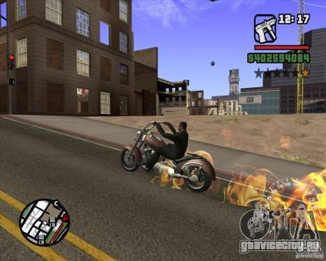 Ghost Rider для GTA San Andreas четвёртый скриншот