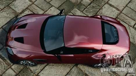 Aston Martin V12 Zagato 2011 v1.0 для GTA 4 вид справа
