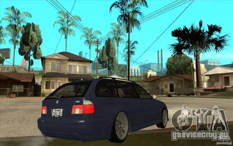 BMW M5 E39 530tdi Touring для GTA San Andreas вид справа