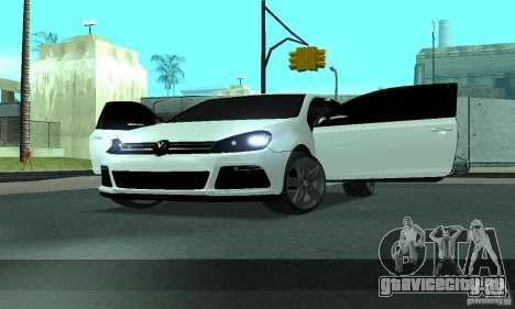 Volkswagen Golf R Modifiye для GTA San Andreas вид сбоку