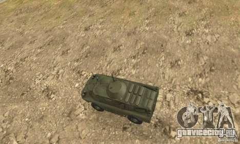 БРДМ-2 Стандартный вариант для GTA San Andreas вид сзади