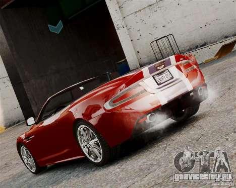 Aston Martin DBS Volante 2010 v1.5 Bonus Version для GTA 4 вид справа