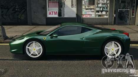 Ferrari 458 Italia 2010 для GTA 4 вид слева