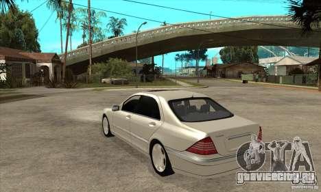 Mercedes Benz S600 для GTA San Andreas вид сзади слева
