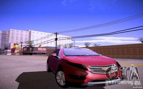 Chevrolet Volt для GTA San Andreas вид сзади слева