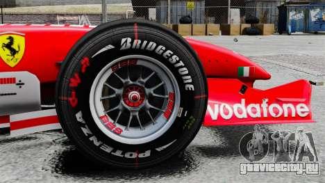 Ferrari F2005 для GTA 4 вид сзади
