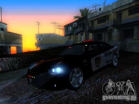 Dodge Charger SRT8 Police для GTA San Andreas вид сзади слева