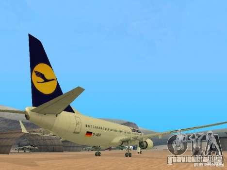 Boeing 737-800 Lufthansa для GTA San Andreas вид справа
