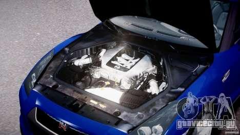 Nissan Skyline GT-R R35 для GTA 4 вид справа